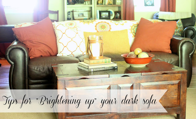 Golden boys and me tips for brightening up a dark sofa for How to brighten up a dark living room