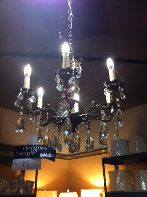 This Past Weekend We Worked On Finding The Right Elements For Their New Powder Bath Found A Beautiful Chandelier Sale 499 Marked Down From