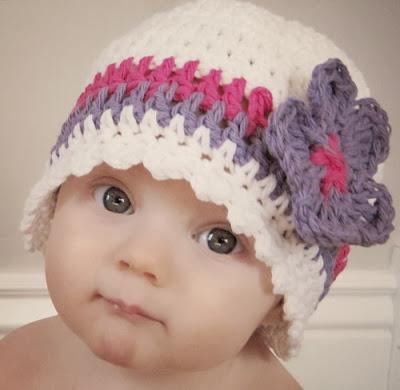 mũ len xinh cho bé gái