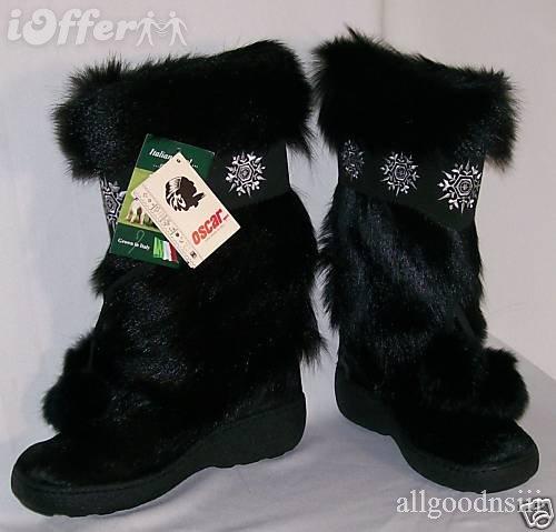Oscar Sport Fur Boots Italy8