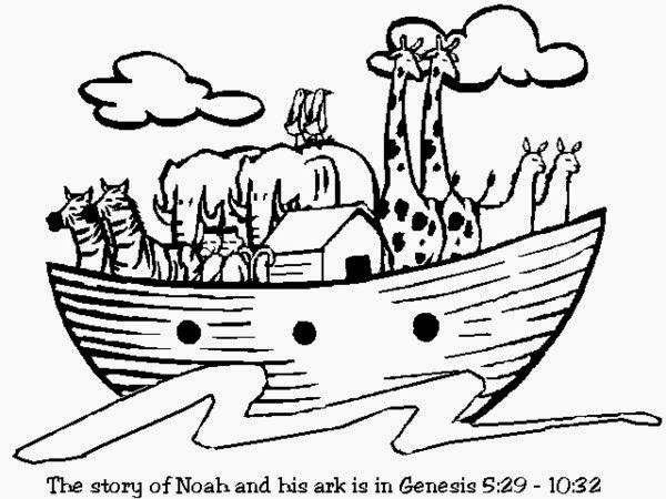 noahs ark coloring pages story - photo#28