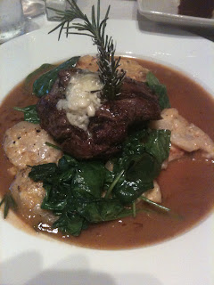 Passion the Restaurant dish: Maytag Blue Cheese Crusted Filet Mignon