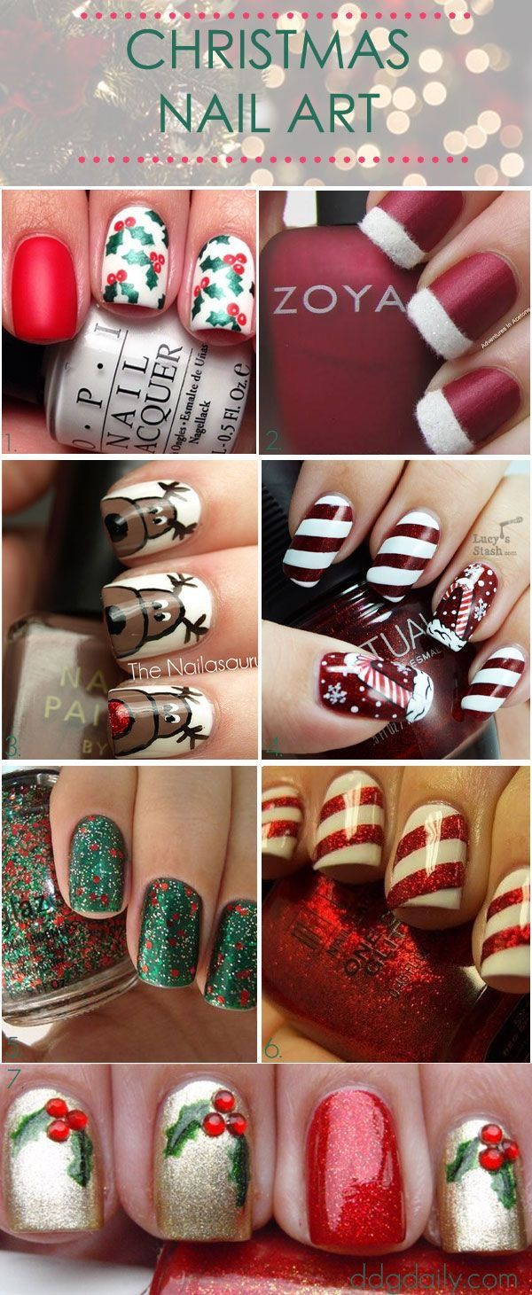 Top Christmas Nail Designs 2018 | Download Happy New Year 2018 ...