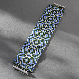 купить браслет из бисера с орнаментом, украина, симферополь, делика loom beading beadweaving