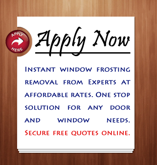 Click Here For Window Frost Removal