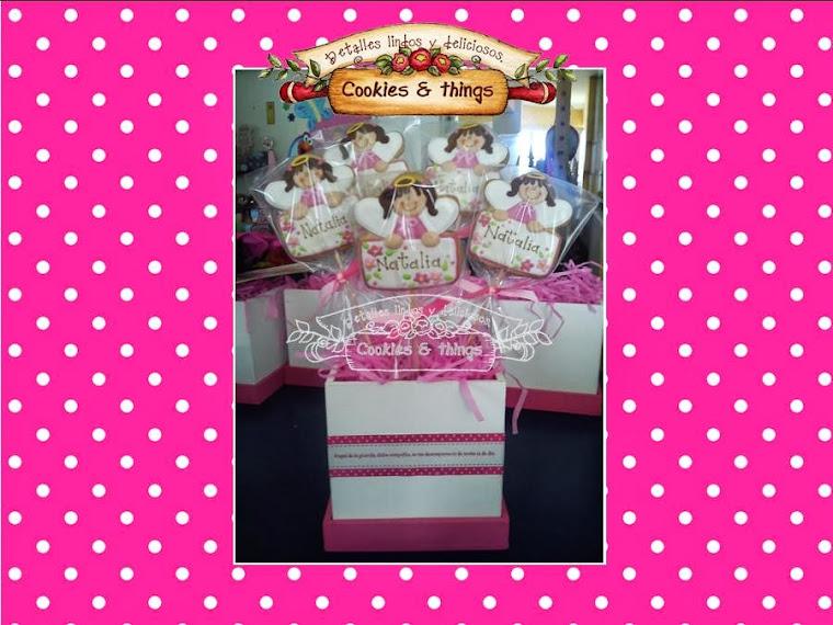 Centro de mesa con Angelitas  de galleta