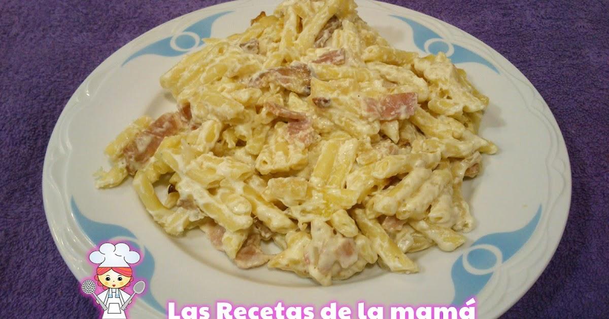Las recetas de la mam receta de macarrones con beicon y nata - Superchef cf100 ...