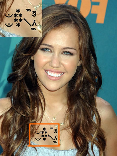 Miley Cyrus Small Tattoos