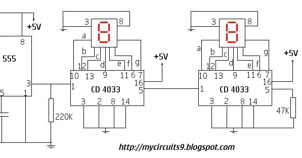 simple counting circuit  to   my circuits, wiring diagram