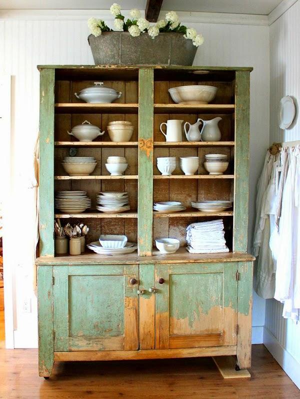 Estilo rustico guardar la vajilla en muebles rusticos - Muebles para vajilla ...