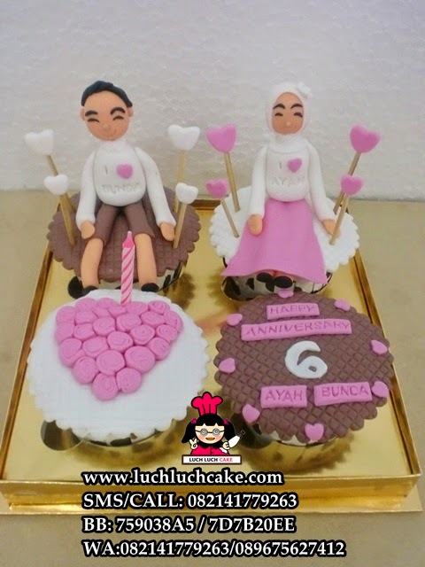 Anniversary Cupcake Pink Daerah Surabaya - Sidoarjo