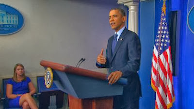 A picture of President Obama Apologizes for Insurance Cancellations