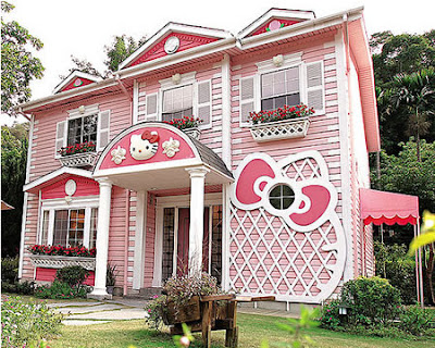 Hello Kitty hotel building house