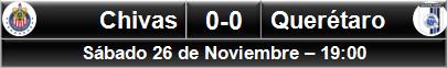 (1) Chivas 0-0 Querétaro (8)