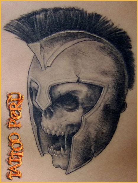 Tatuajes: Historia de los Tatuajes. Craneo_romano