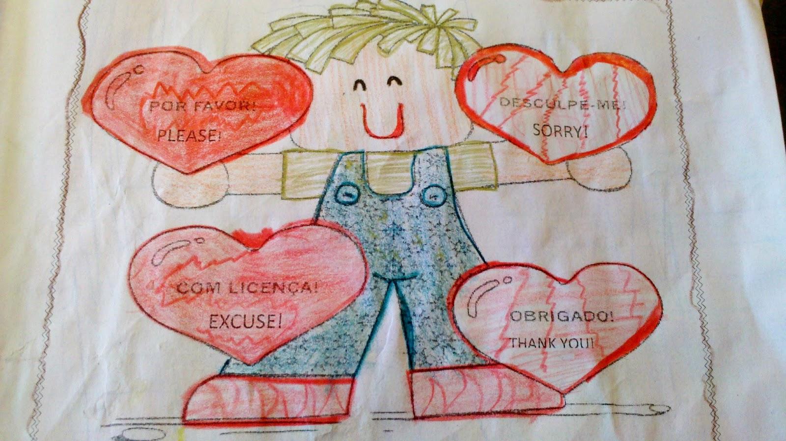 atividades inglês crianças teacher class thank you