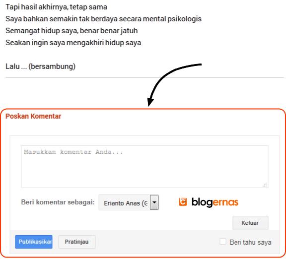 Cara Mengatur Posisi Kotak Komentar di Blog