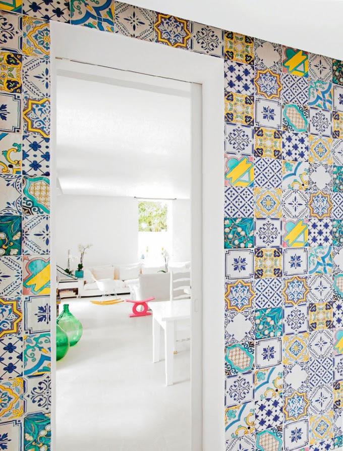 Bricolage e decora o decorar paredes com azulejos - Decorar azulejos ...
