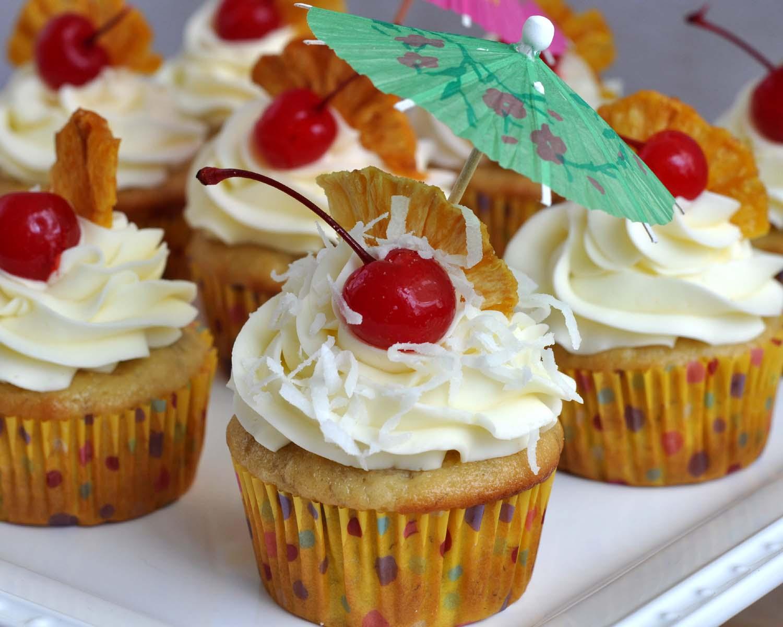 Beki Cook's Cake Blog: Banana Pina Colada Cupcakes