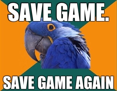 Paranoid Gamer - Save Game - Save Game Again