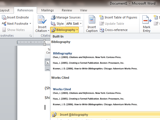 how to apply apa format in microsoft word 2007