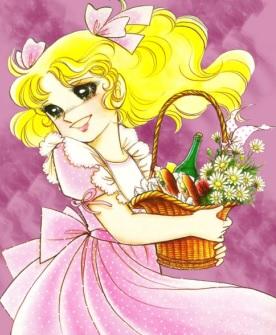Candy con canaste de flores panes y chanpagne