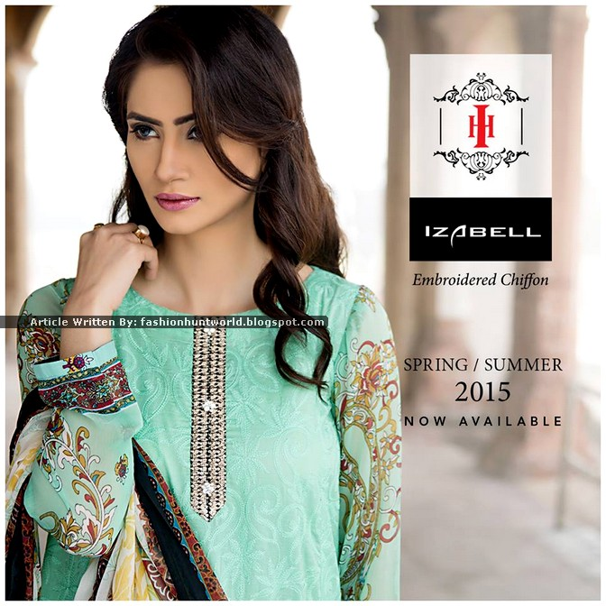 Ittehad Izabell Embroidered Chiffon 2015
