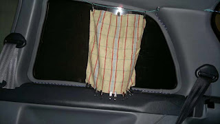 Car Curtains in a Toyota Starlet