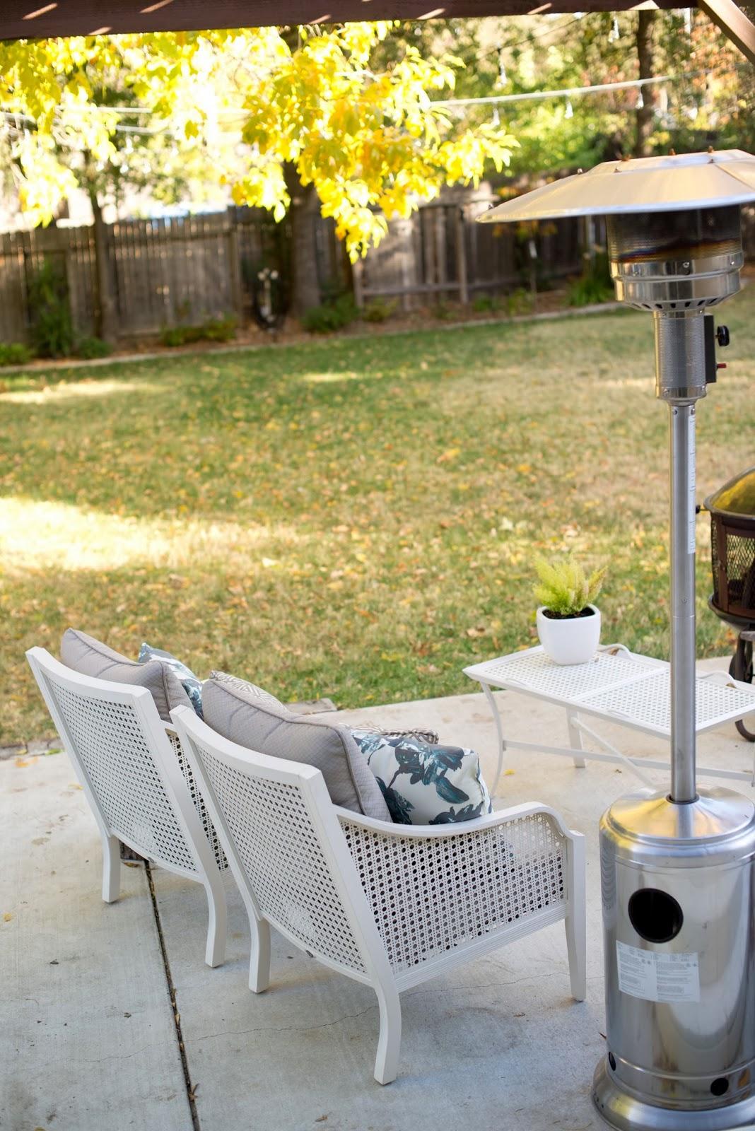 domestic fashionista fall backyard porch