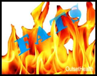 Illustration of burning fats