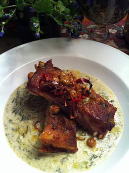 Baby Back Ribs with Spiced and Flavored Cream Spinach