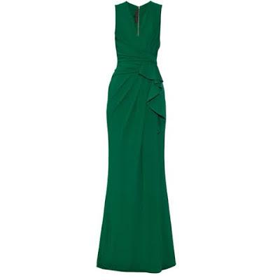 vestido verde esmeralda elie saab