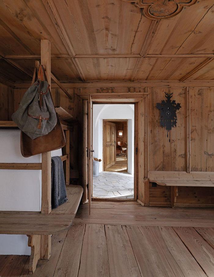 Rustik chateaux interior rustico actual en la monta a - Casa de madera rustica ...
