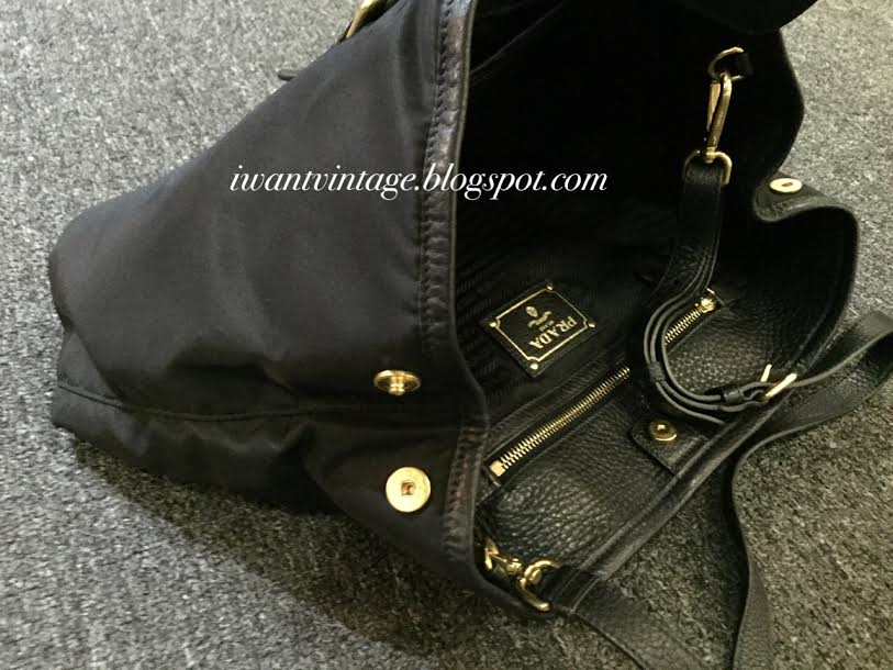 I Want Vintage | Vintage Designer Handbags: Prada BN1881 Tessuto ...