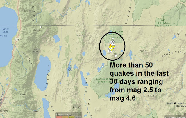 Tik-Tok: Seismologists say a year-long swarm of 5,610 earthquakes in Nevada linked to volcanic activity Nev