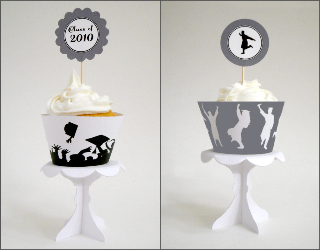 Domestic Charm: Free Graduation Cupcake Printables