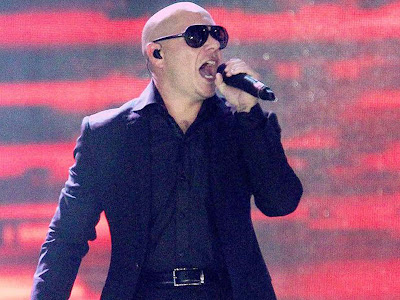 Pitbull performs during the Pepsi Indian premier League Opening Ceremony