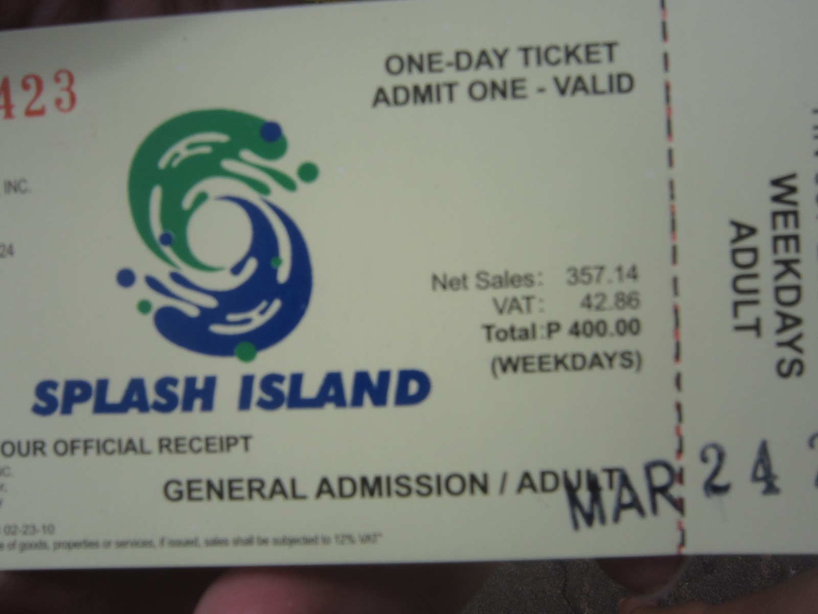 I Am Jemie Splash Island Resort Laguna 2011
