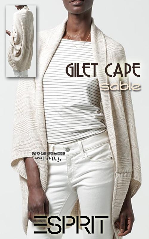Gilet ample style cape Esprit
