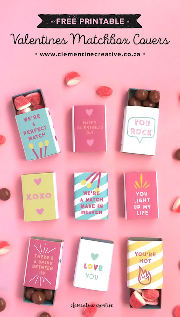 free printable valentine matchbox covers