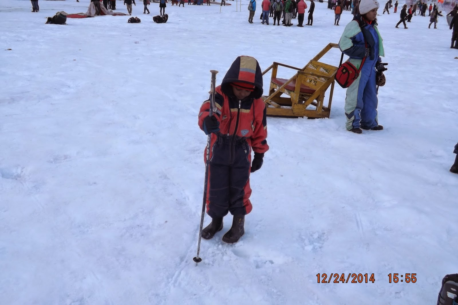 Chandradittya Banik trying his luck in Skiing