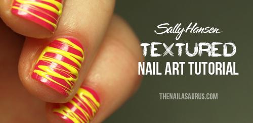 Sally Hansen Textured Nail Art Tutorial: Sugar Spun Nail Art