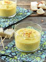 Crema de coliflor con curry y cheddar