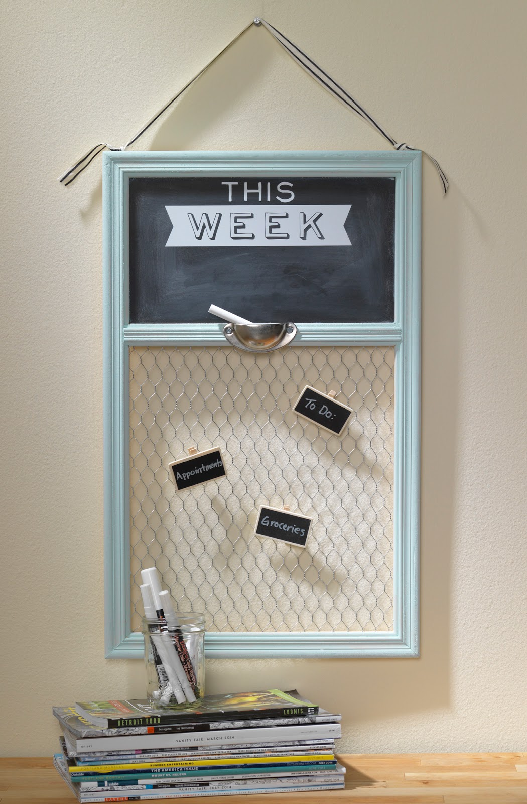 This Week Chalkboard Message Board @craftsavvy #craftwarehouse #diy #organization
