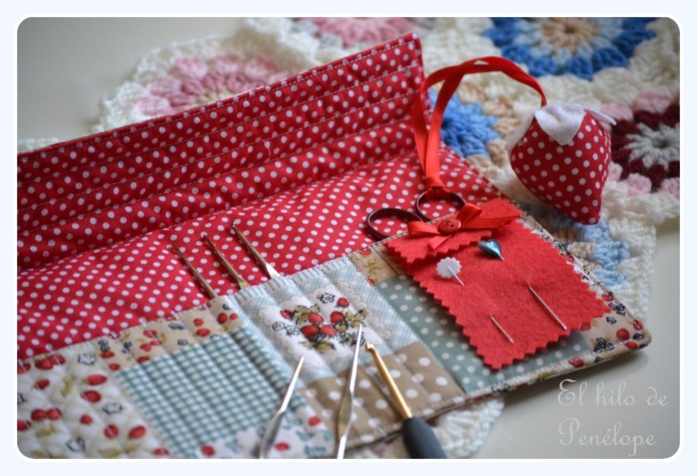 El taller del hilo de Penélope: Funda para agujas de crochet
