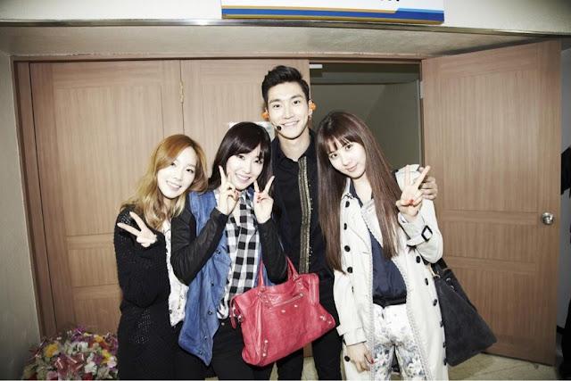 TaeYeon, Tiffany, SeoHyun with Siwon