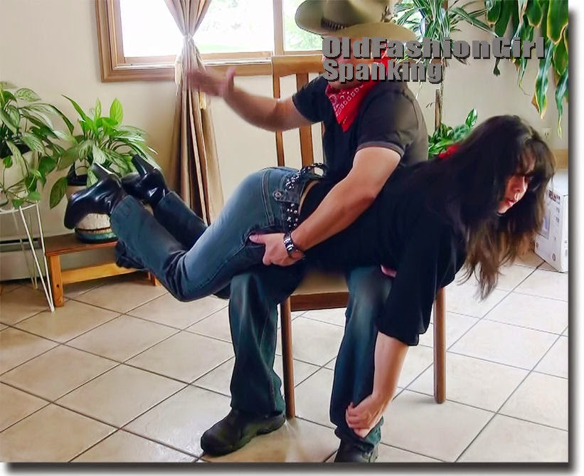 Two girls subdue and spank man