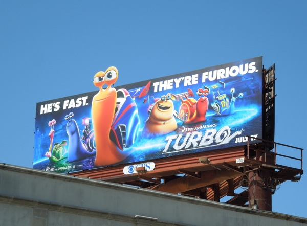 Turbo movie billboard