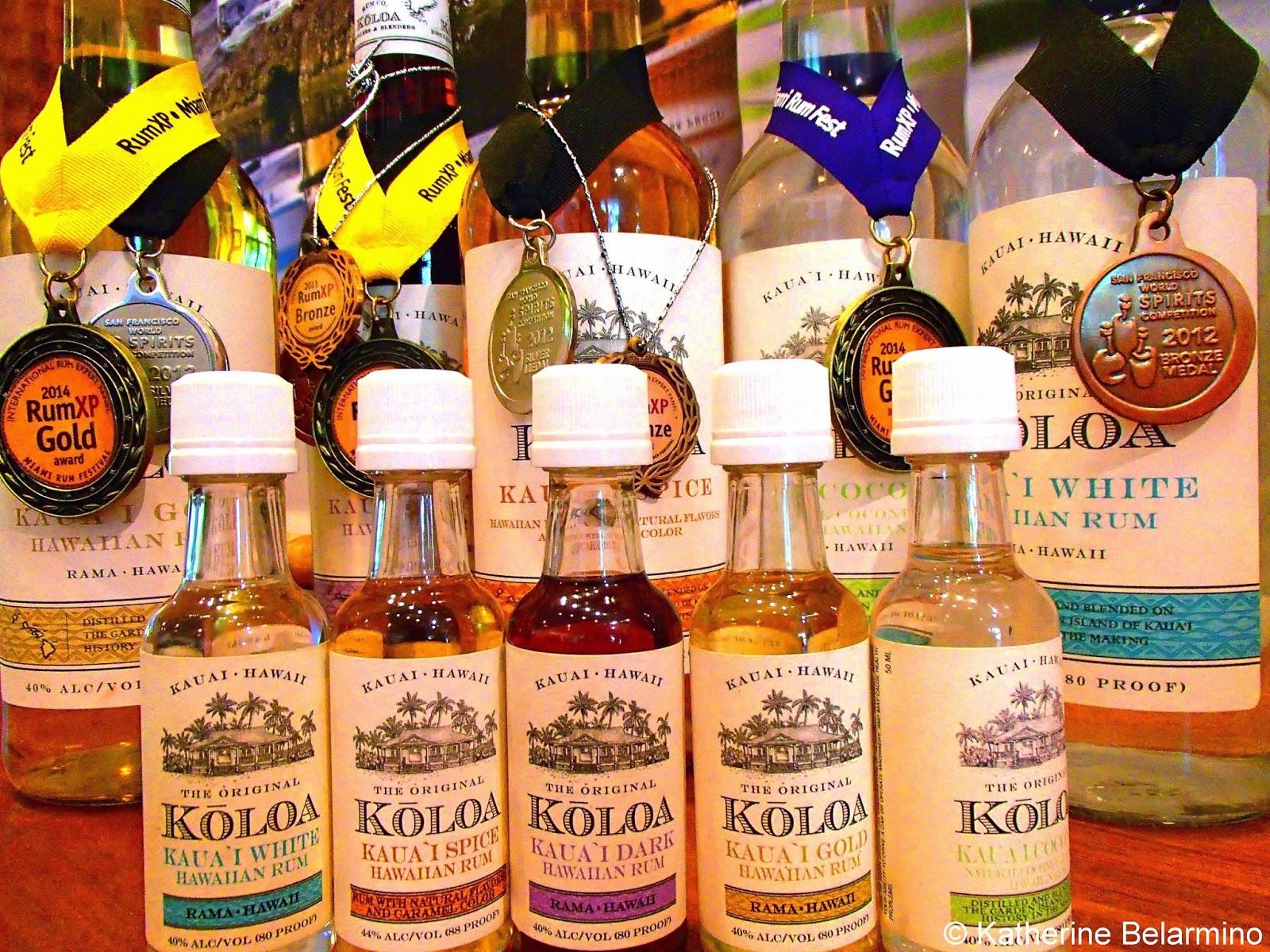 Koloa Rum Company Bottles Kauai Hawaii