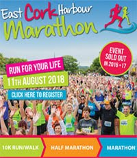 East Cork Harbour Marathon, Half-Marathon & 10k... Sat 11th Aug 2018